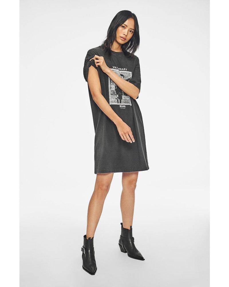 Anine Bing Mohawk Harley T-shirt Dress - Washed Black