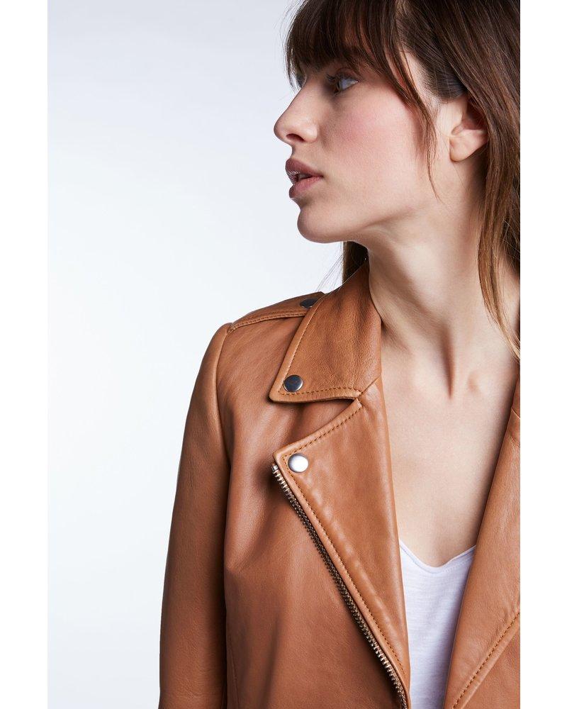 SET Leather jacket - Chipmunk