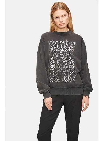 Anine Bing Ramona Panther Sweatshirt - Washed Black