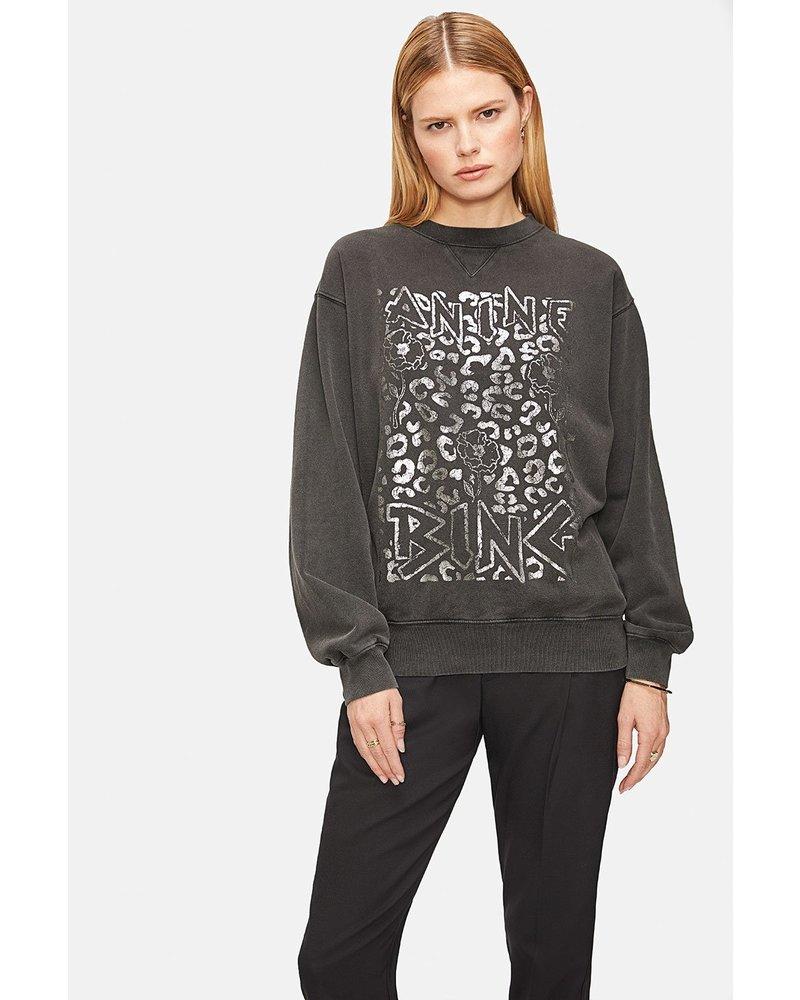 Anine Bing Ramona Panther Sweatshirt - Washed Black