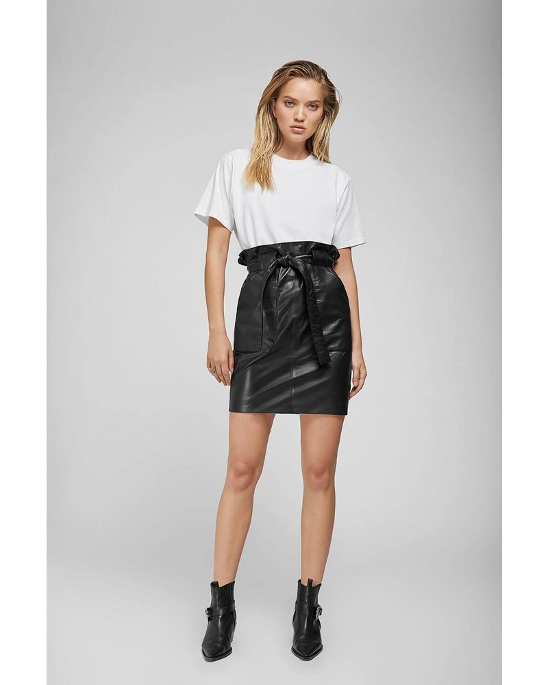 Anine Bing Laurie Leather skirt - Black