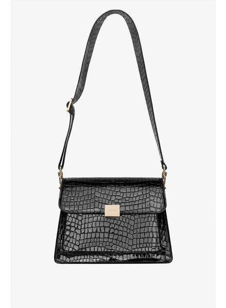 Anine Bing Felix bag - Black Croco