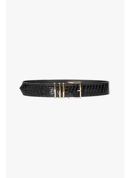 Anine Bing Andrea belt - Black Croco