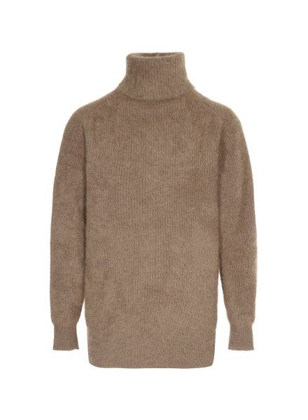 CT Plage High neck raccoon pullover - Camel