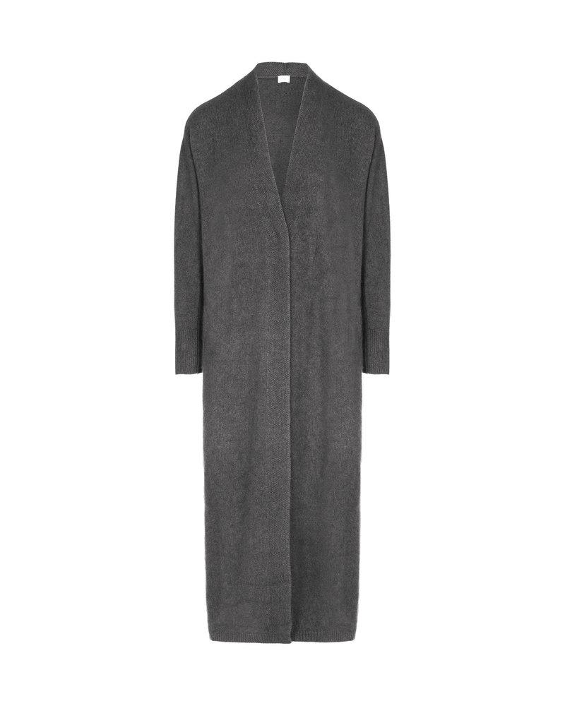 CT Plage Vneck Raccoon blend cardigan - C. Grey