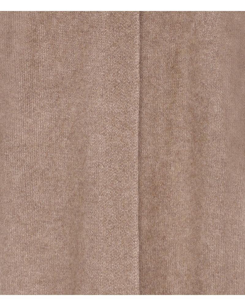 CT Plage Vneck Raccoon blend cardigan - Beige