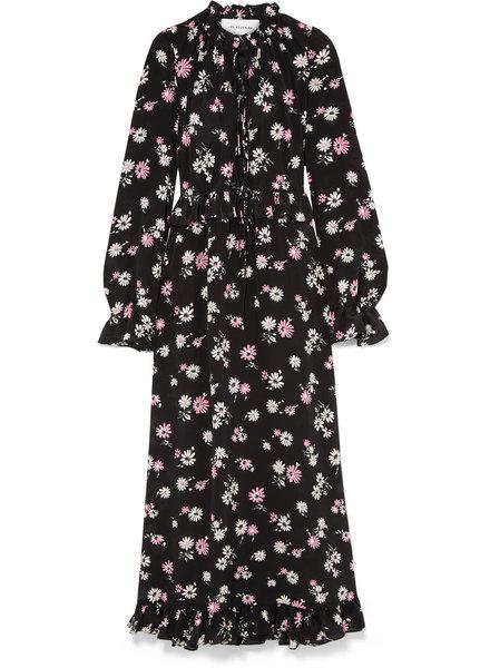 Les Reveries Ruffle picnic long dress - Pink daisy