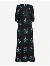 Les Reveries Puff sleeve Bias dress - Blue Daffodil