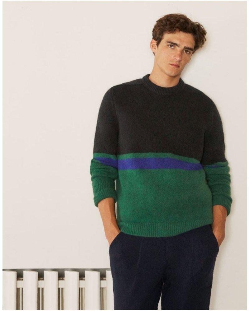 Edition M.R. Nicolas Oversized Sweater - Navy/Green