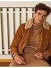 Edition M.R. Rive Gauche Suede Jacket Shearling Collar - Cognac