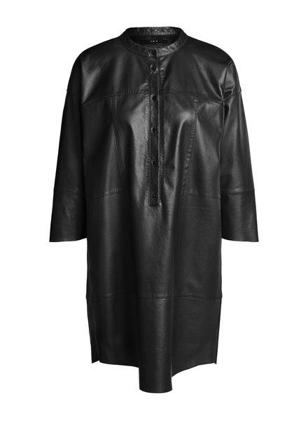 SET Leather dress - Black - size 40