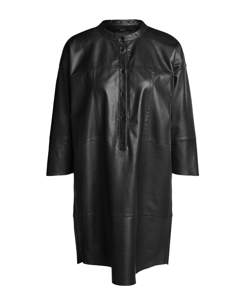 SET Copy of Leather dress - Toffee