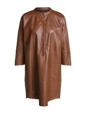 SET Leather dress - Toffee