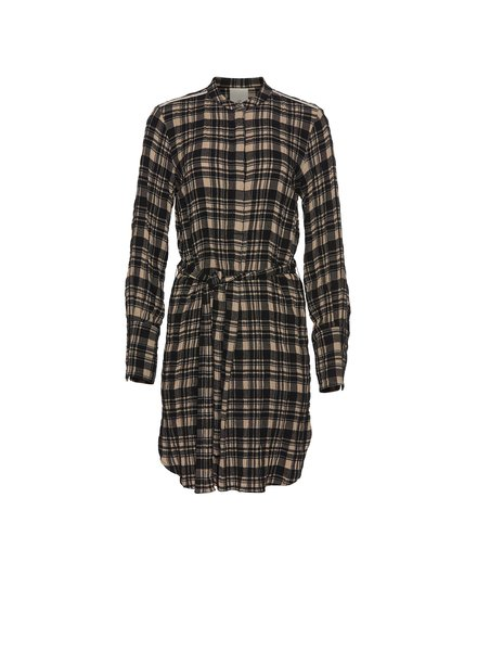 Julie Fagerholt Hollis dress - Khaki Check - size 44