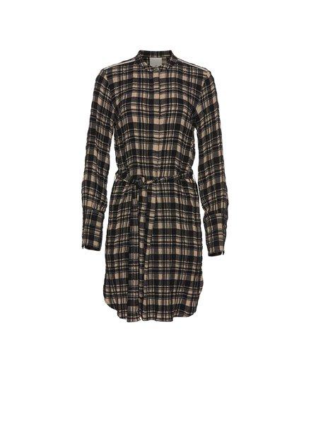Julie Fagerholt Hollis dress - Khaki Check
