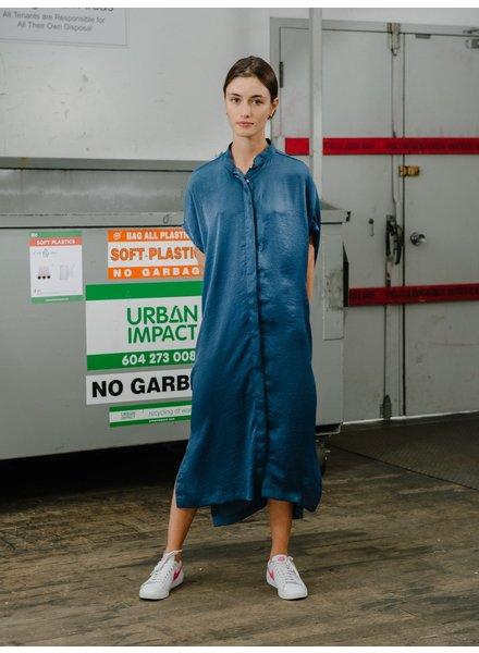 Priory Placket II dress - Denim Blue