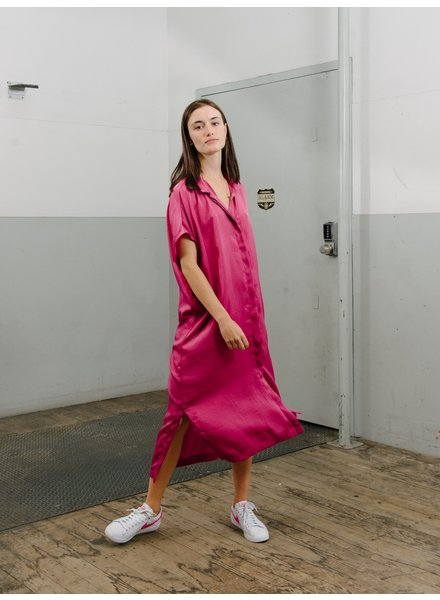 Priory Placket II dress - Fuchsia Bright