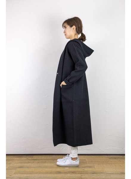CT Plage Wool Hood Jacket - Navy