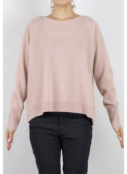 CT Plage Round Cashmere longsleeve - Pale Pink