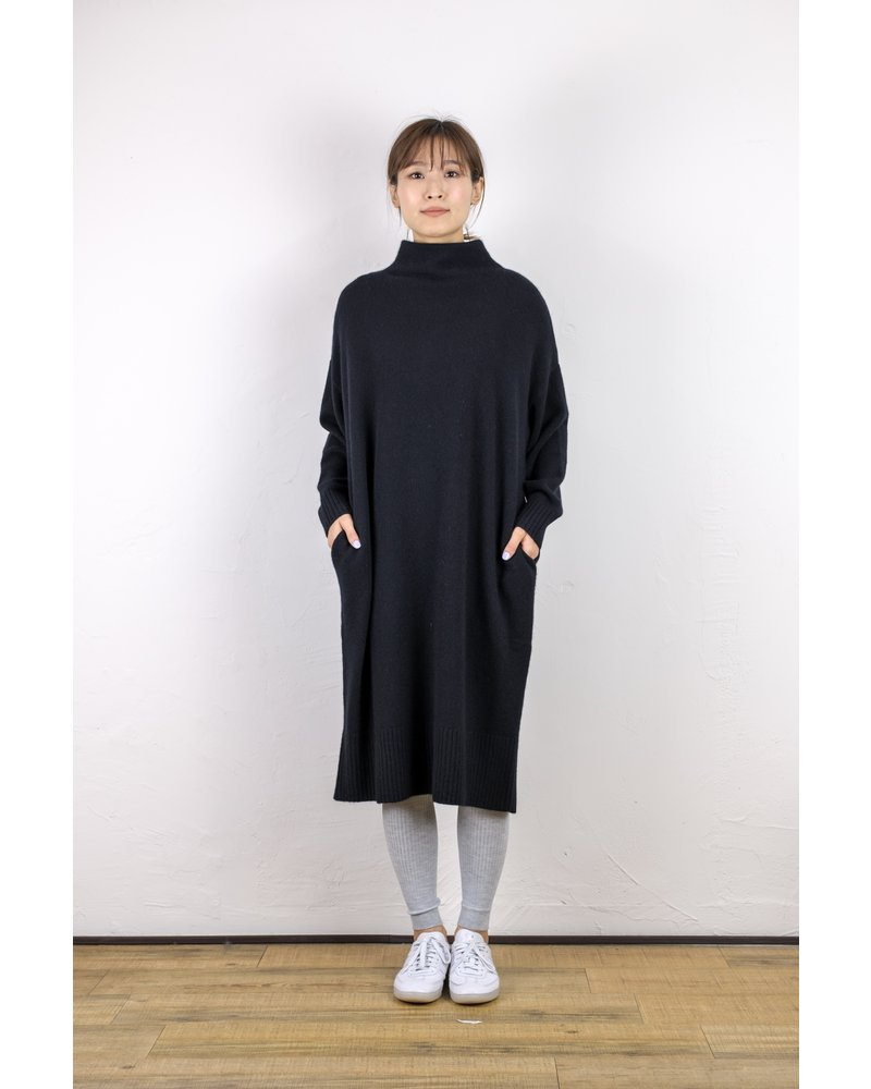 CT Plage Cashmere longsleeve dress - Black
