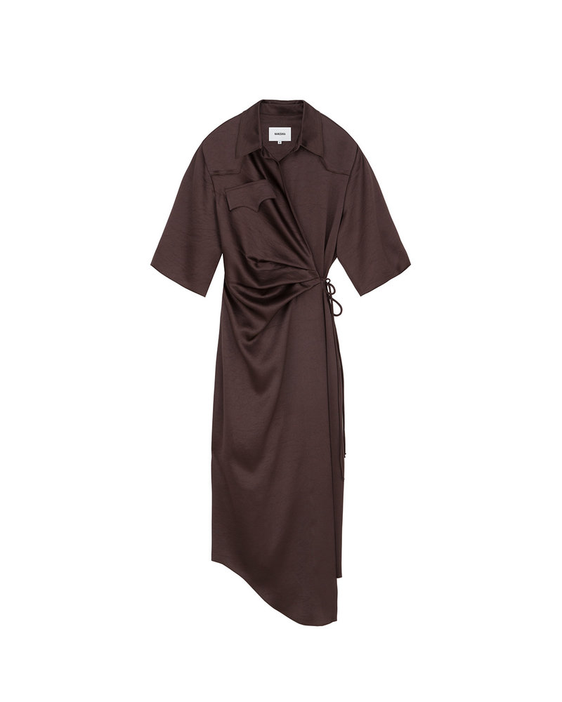 Nanushka Lais dress - Espresso