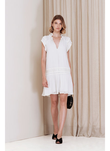Magali Pascal Bovary Mini Dress - Dusty White