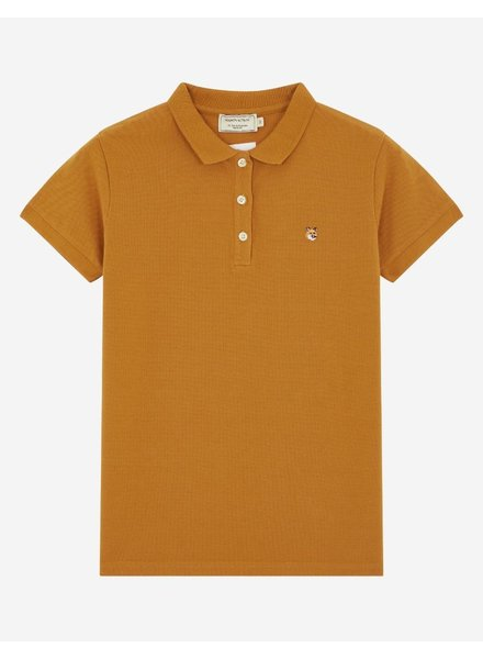Maison Kitsuné Polo fox Head - Rust