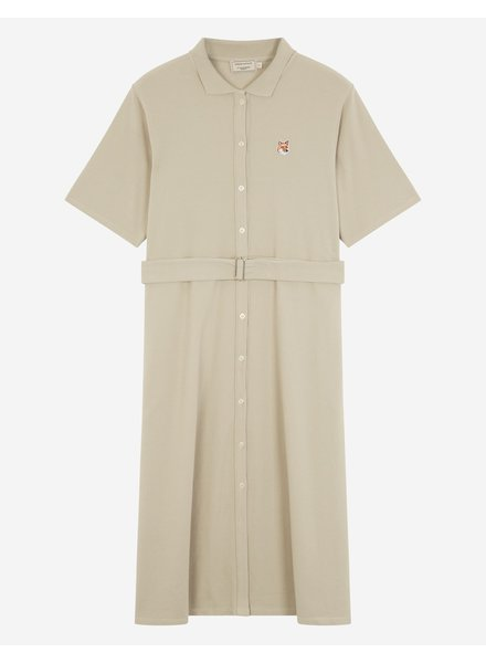 Maison Kitsuné Pique Polo dress - Beige