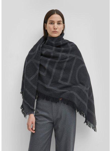 Totême Como scarf - Dark grey monogram