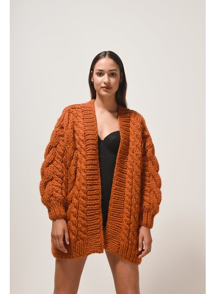 I Love Mr Mittens Cable cardigan - Copper