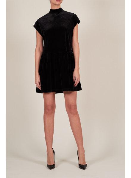 Le Brand Livia Mini Velvet Dress - Black