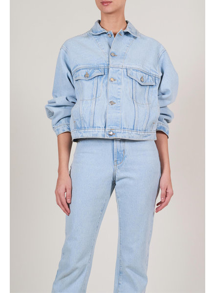 Le Brand Oversized Denim Jacket - Light Denim