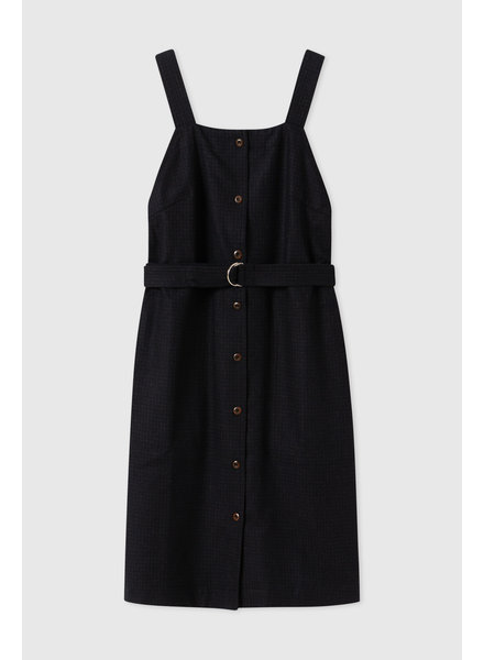 Wood Wood Charlotte dress - Navy Check
