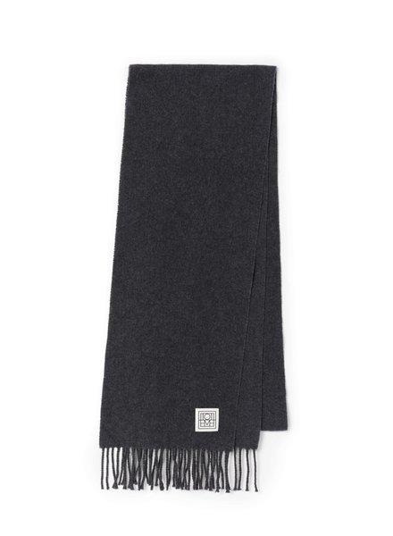 Totême Bova scarf - Dark Grey Melange