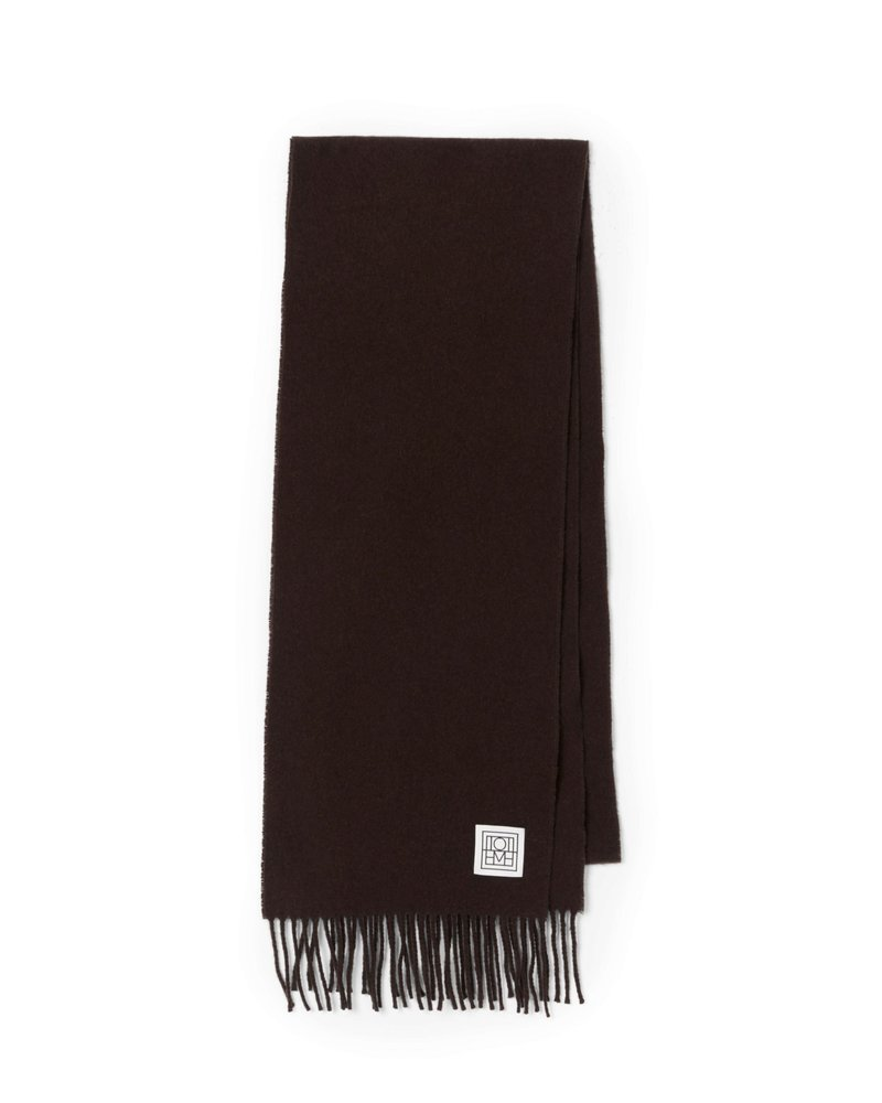 Totême Bova scarf - Dark Brown