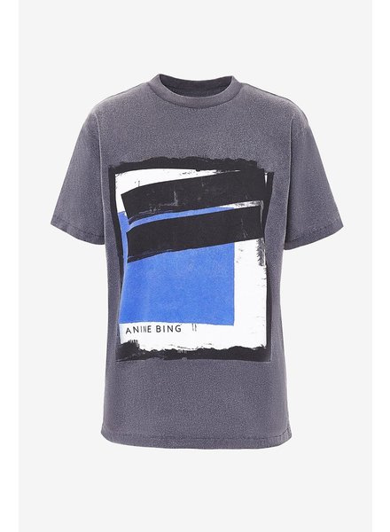 Anine Bing Lili Painting Tee - Washed Black