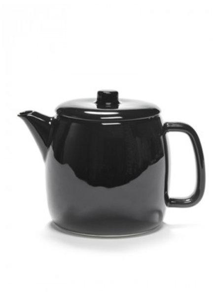 Vincent Van Duysen Theepot met infuser - D12 H13,3 - Geglazuurd zwart