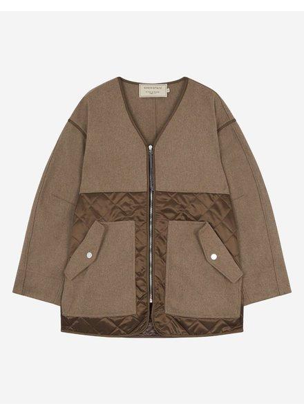 Maison Kitsuné Quilted Jacket - Beige
