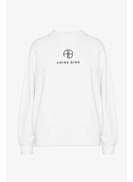 Anine Bing Ramona Monogram Sweatshirt - Optic White