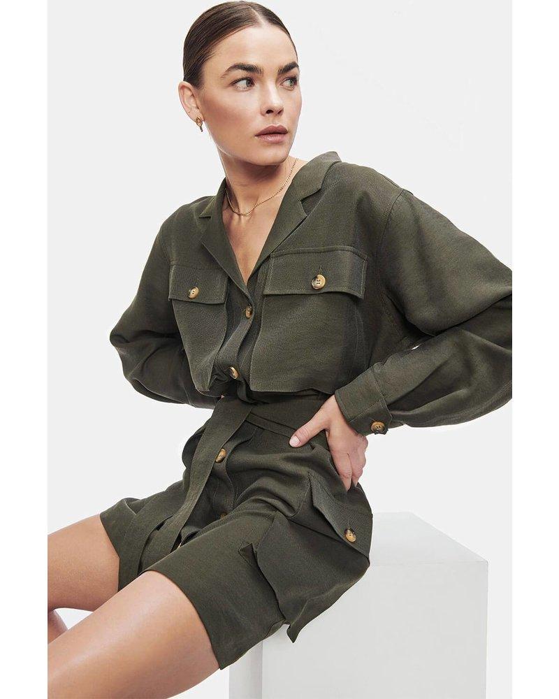 Anine Bing Kaiden dress - Willow Green