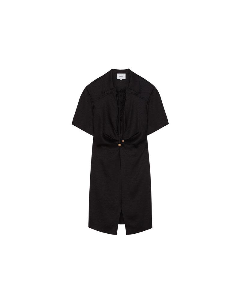 Nanushka Etta mini dress - Black