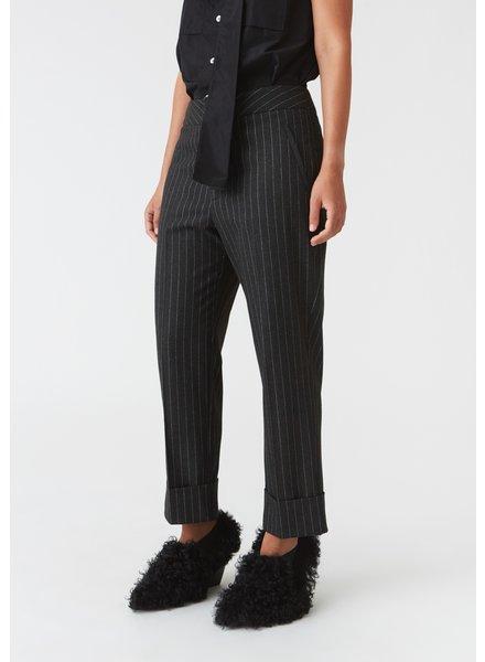 Hope Jet Trousers - Grey Pinstripe - size 42