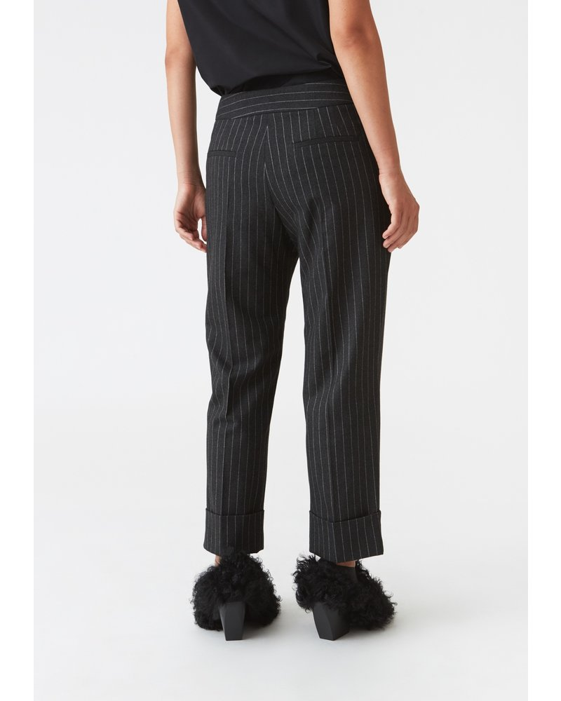Hope Jet Trousers - Grey Pinstripe