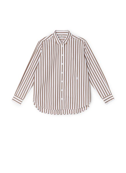 Totême Capri shirt - Rust Stripe -  size XXS