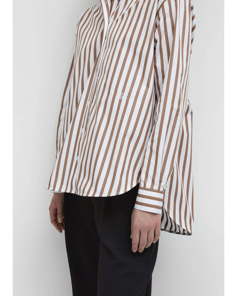 Totême Capri shirt - Rust Stripe