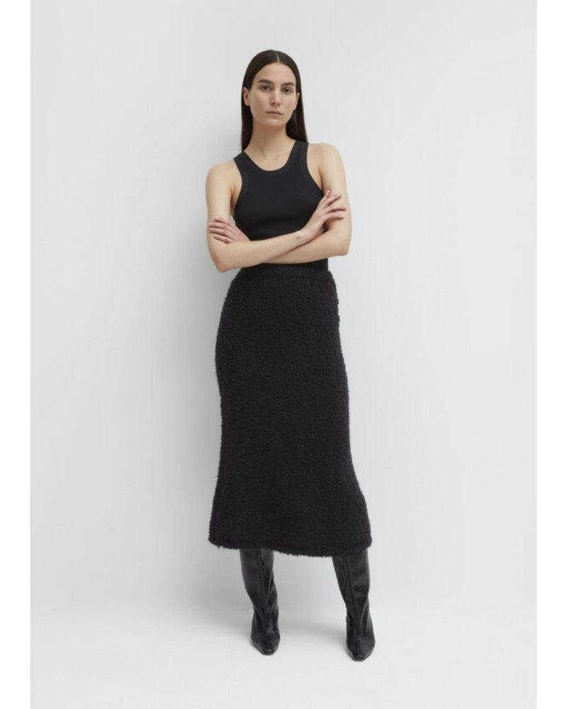 Totême Nevis mohair skirt - Black