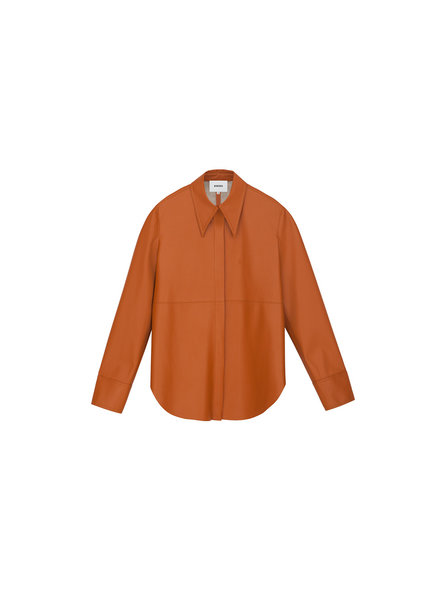 Nanushka Noelle shirt - Burnt Orange