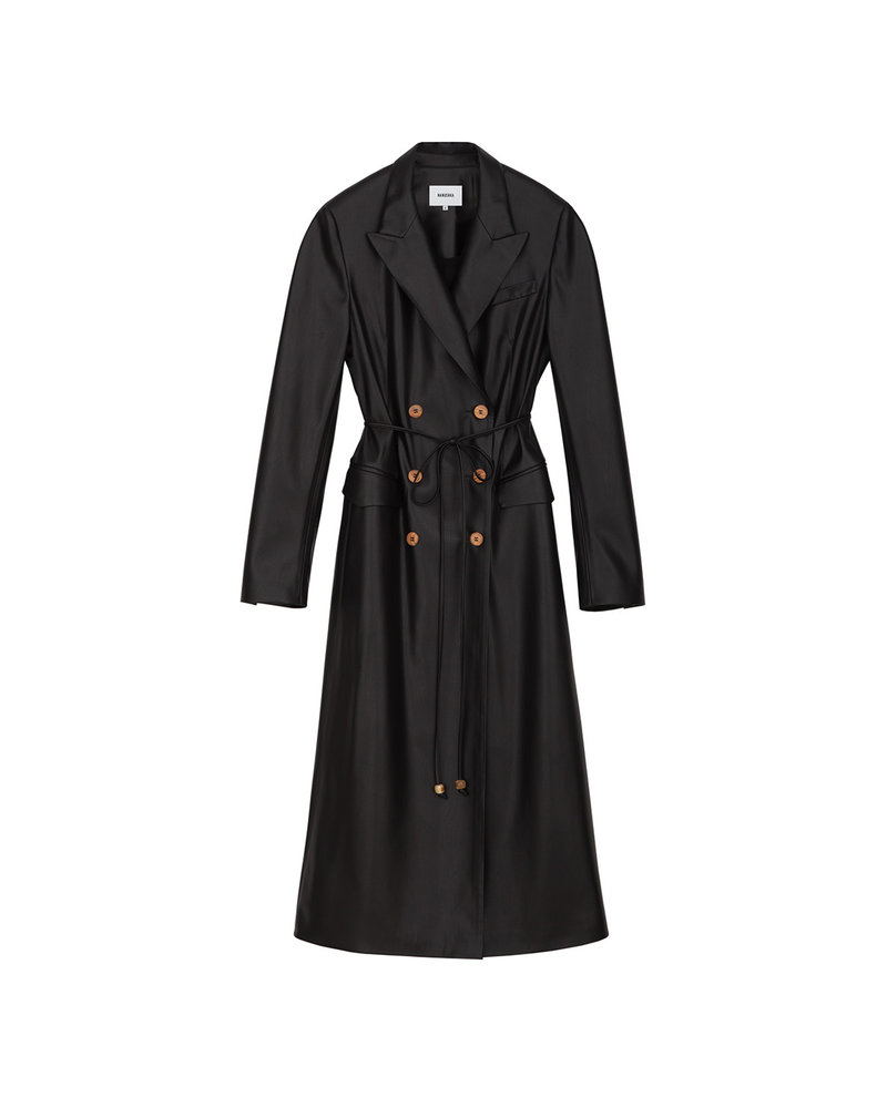 Nanushka Manila coat dress - Black