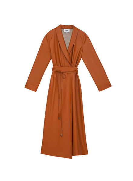 Nanushka Emery dress - Burnt Orange - size XL