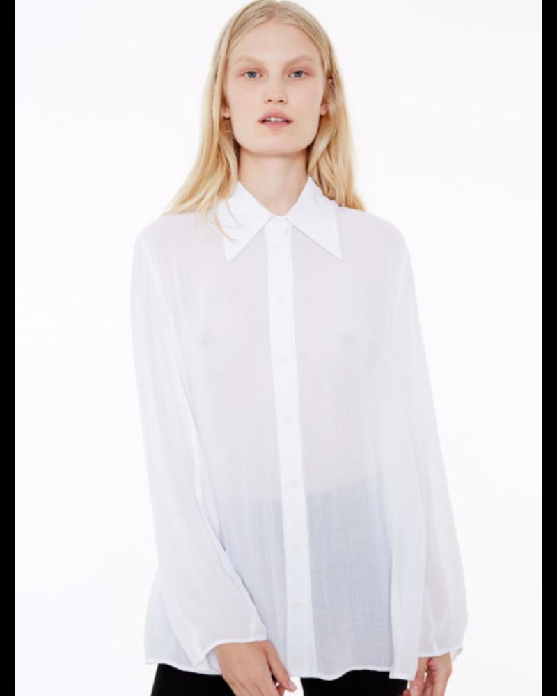 Margaux Lonnberg Hayden chemise - White
